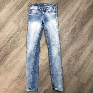 H&M &denim Skinny Low Waist Jeans Size 25